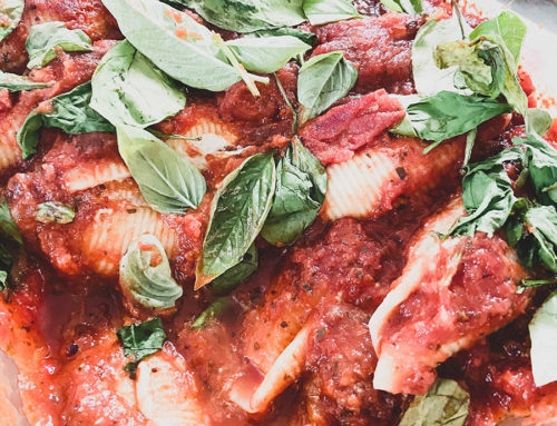 Stuffed Pasta Shells with Vegan Ricotta