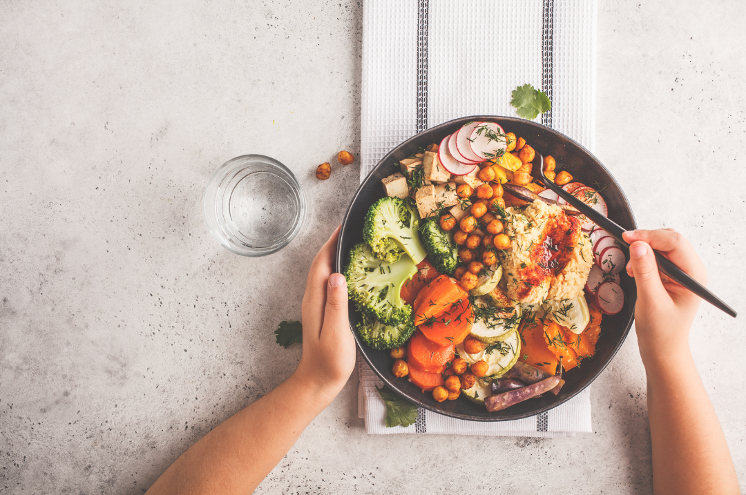 Prebiotic-rich meal for your gut microbiome.